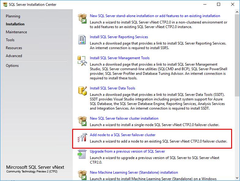 Add node to a SQL Server FC