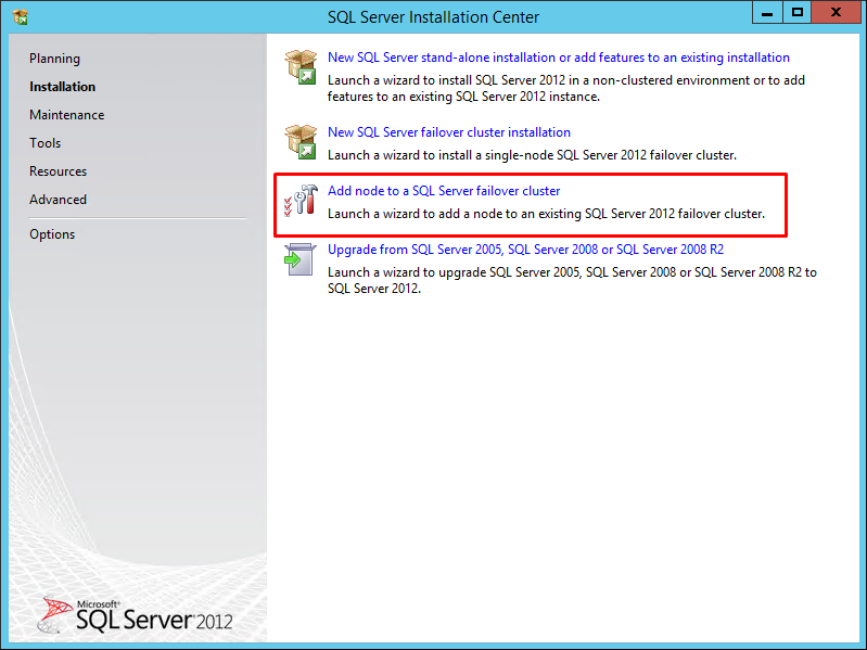 Add node to a SQL Server failover cluster