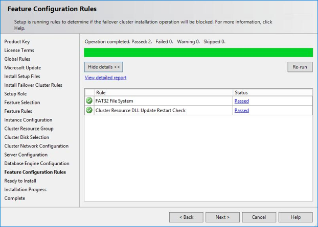 Feature configuration rules