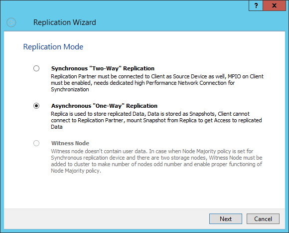asynchronous replication ws 2012