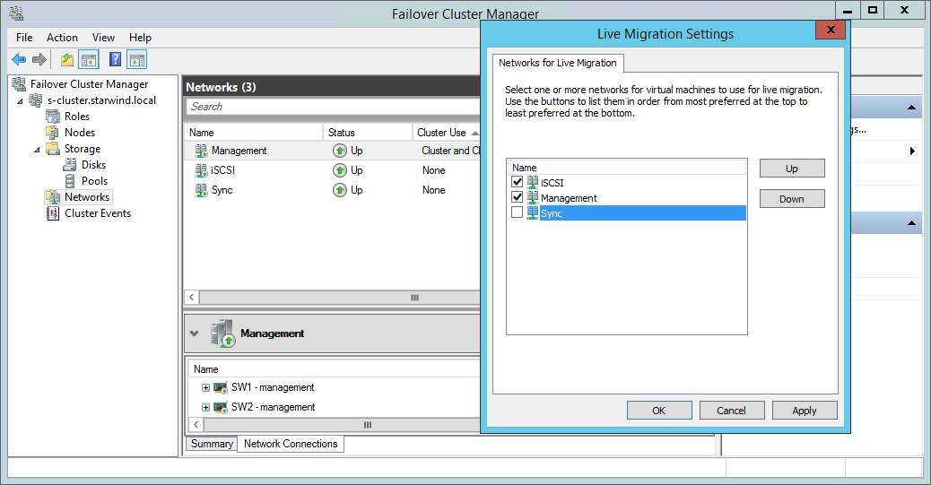 live migrations settings