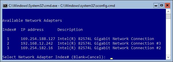 Hyper-V Server Management Console - Network Adapters Management