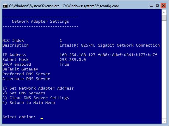 Hyper-V Server - Network Adapter Settings