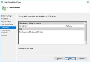 File Server Confirmation