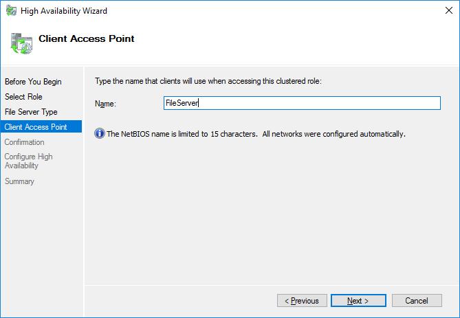 StarWind File Server Name