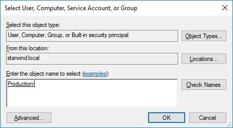 Select User. Computer