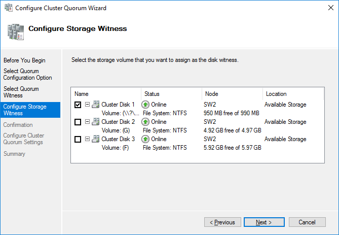 Configure Storage Witness
