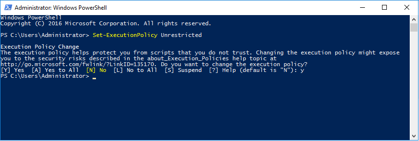 Powershell Unrestricted