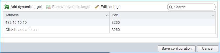 Add dynamic target ESXI