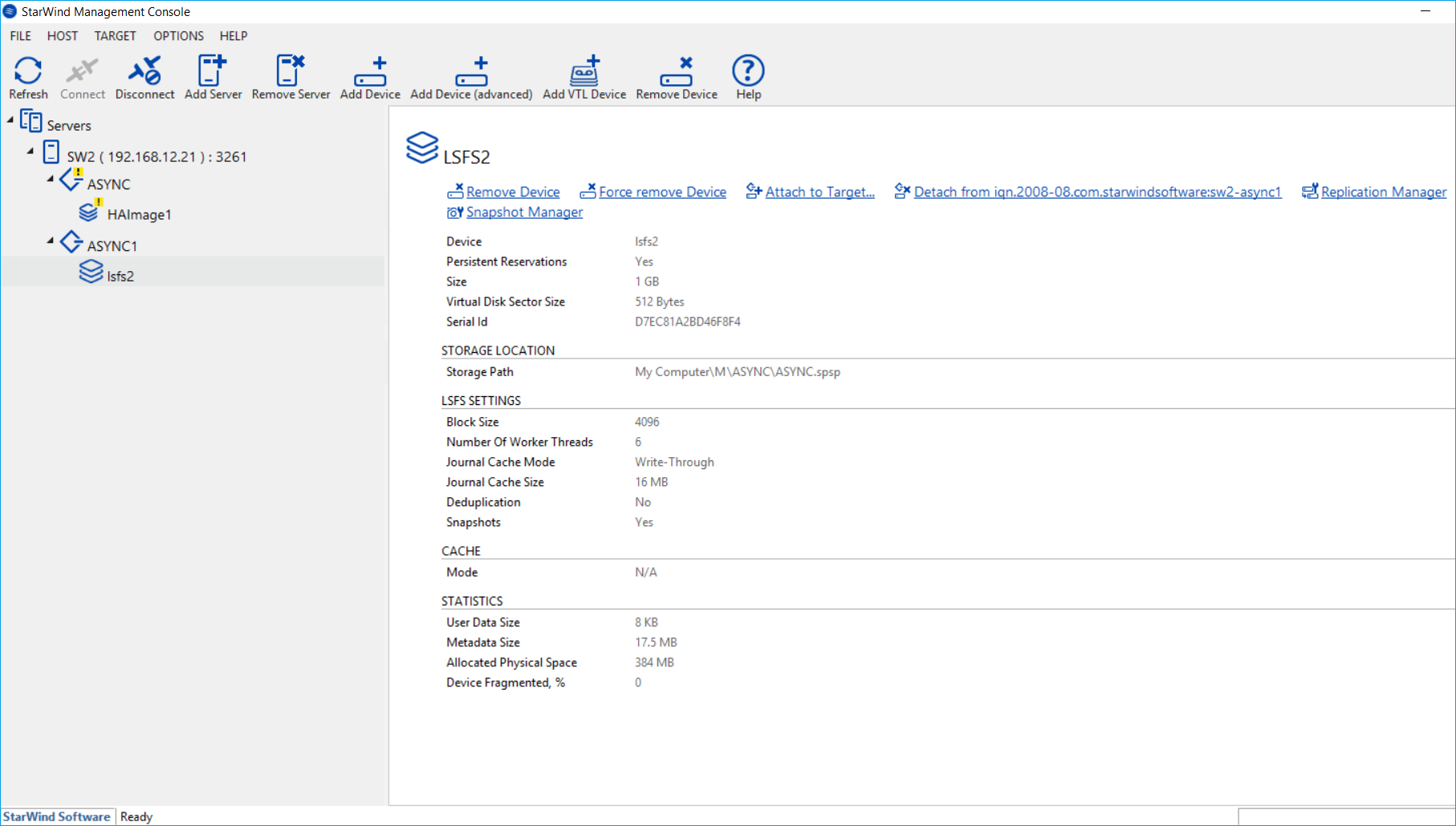StarWind Console Manager