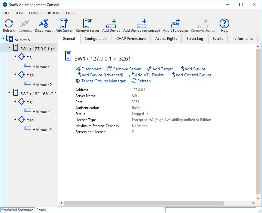 StarWind Management Console