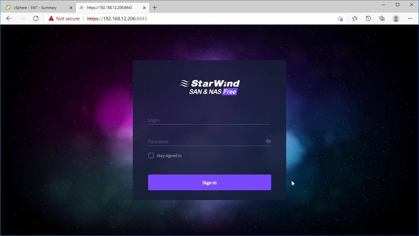 StarWind SAN & NAS Free