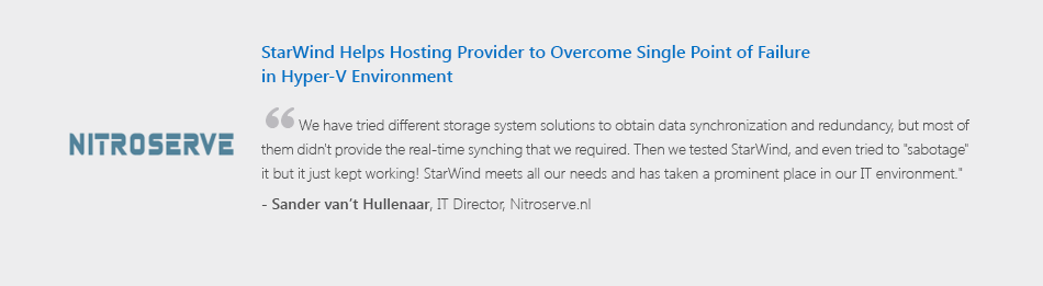Starwind Is 1 Hyperconverged Appliance For Smb And Robo